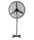 Ventilador climatización pie negro acero VIS680. HJM
