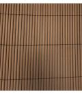 Mimbre ocultación 1,5X3mt Eco PVC marrón. NOVAGARDEN