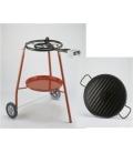 LOTE paellero 400 + plancha grill