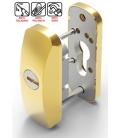 Escudo metálico de carpintería oro LINCE