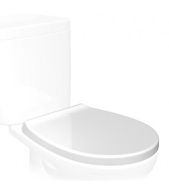 Tapa WC caída suave OPTIMA SOFT CLOSE blanca pvc. TATAY
