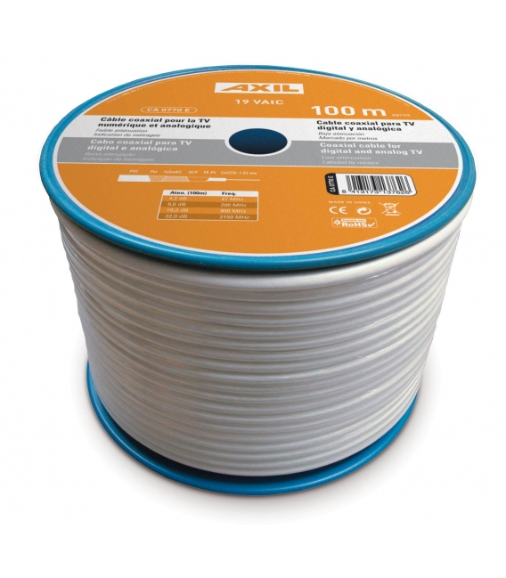 Cable coaxial 100mts AXIL