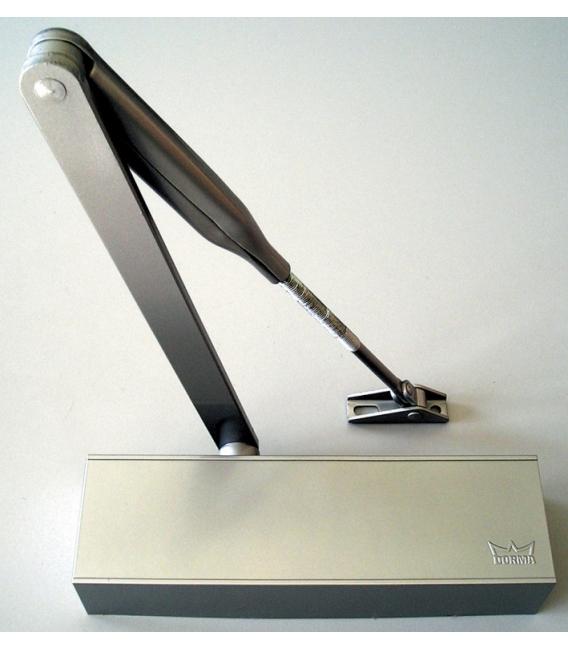 Cierrapuertas brazo retenedor bronce DORMA