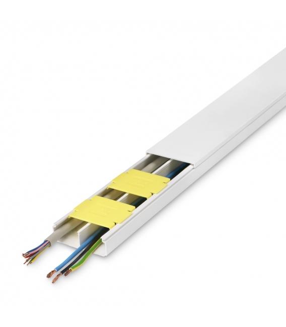 Canaleta eléctrica adhesiva 53X20mm/ 8Pz. INOFIX