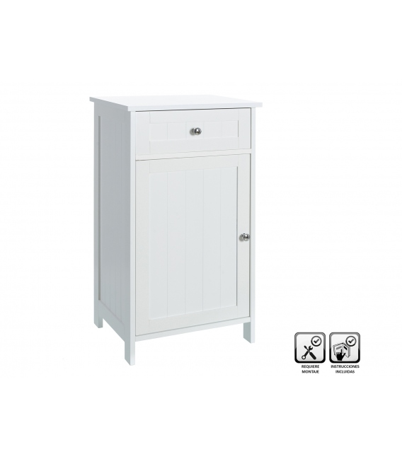 Mueble baño 1 puerta 43x34x77cm UNIMASA