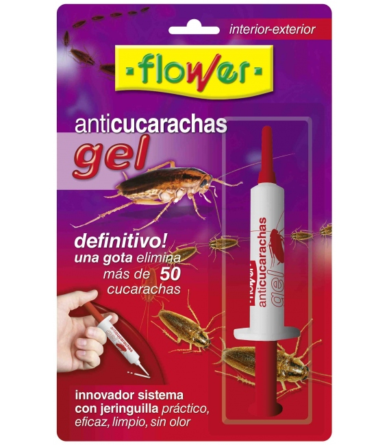 INSECTICIDA CUCARACHAS GEL FLOWER 10 GR