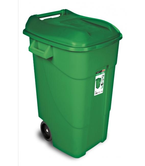Contenedor de basura con ruedas verde 120 LT. TAYG