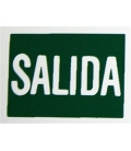 PLACA ADH SALIDA 297X210MM