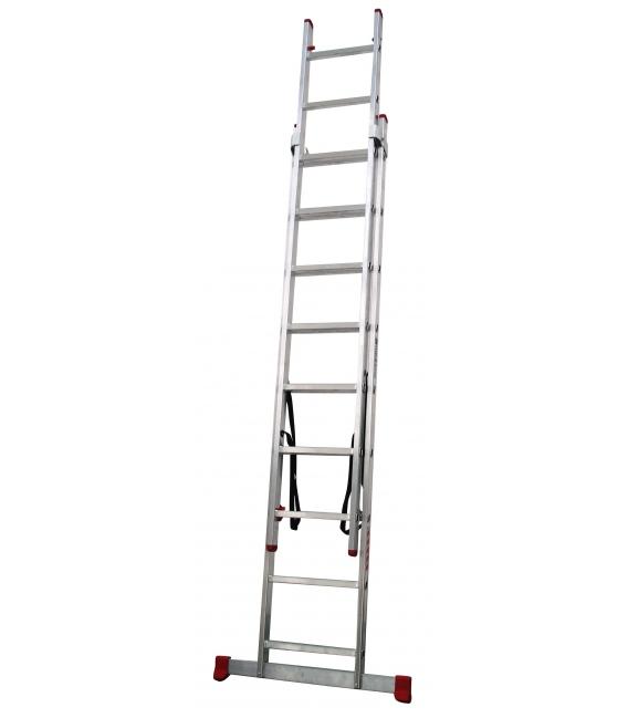 Escalera Aluminio 2x10 Peldaños 2x3 mts. TEICOCIL