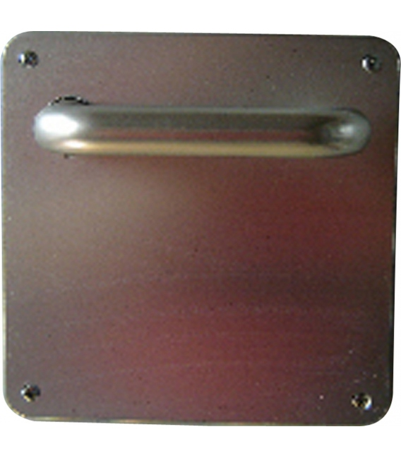 Manivela Puerta 1988/600Ch-F1 Aluminio Plata Placa Cuadrada. OCARIZ