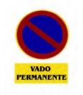 CARTEL VADO PERMANENTE 40X30CM