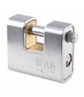 Candado Seguridad Arco Rectangular Acero Cromado. IFAM