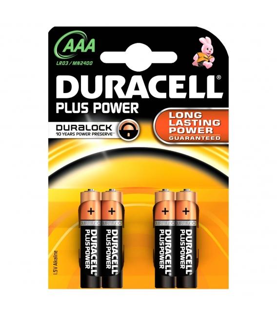PILA LR03 AAA 1,5V POWER PLUS 4 PZ