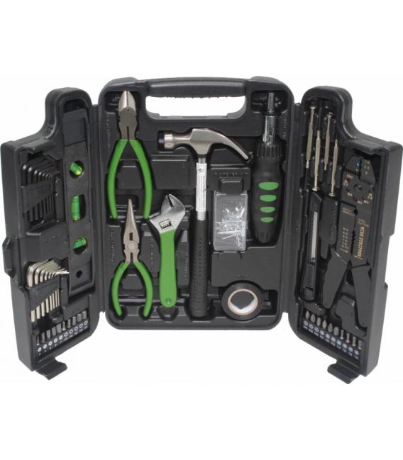 Maleta herramientas bricolaje con 129 herramientas ABS MAC POWER. MADER