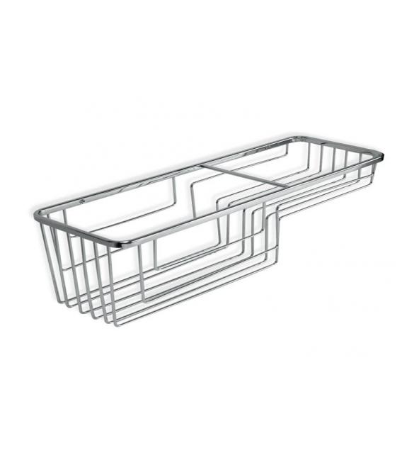 Cestillo baño 36x16x45cm Cromo TATAY