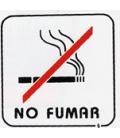 PLACA ADH NO FUMAR 110X110MM