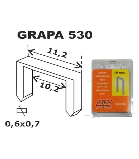 GRAPA MODELO 530 06MM 1.000 PZ