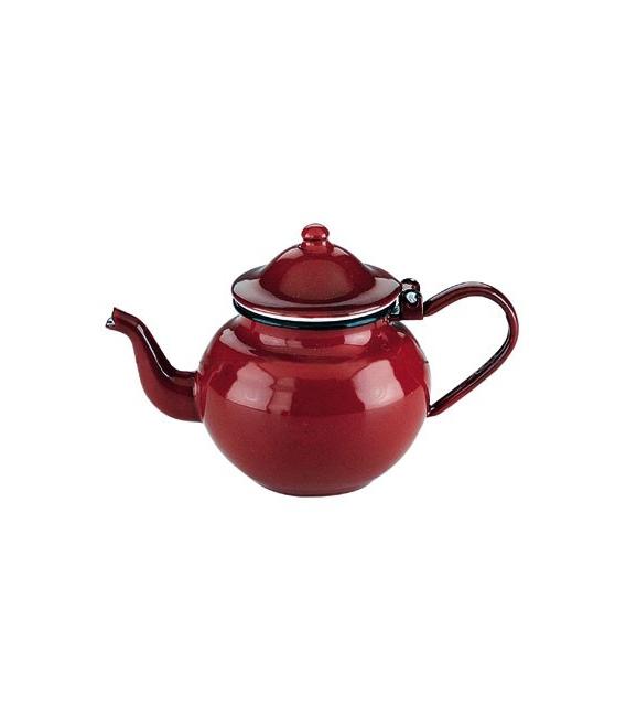 Tetera porcelana roja
