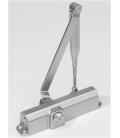 Cierrapuertas brazo retenedor plata DORMA TS COMPACT