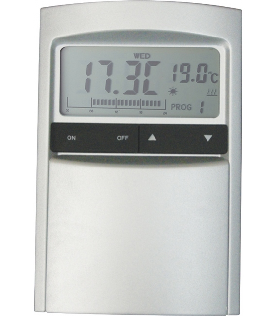 Cronotermostato digital aluminio/grafito. COATI