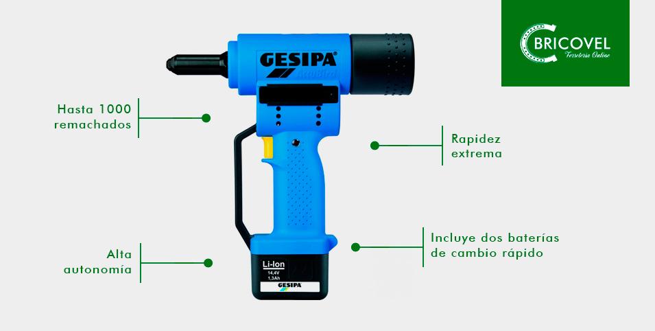 Remachadora a bateria Gesipa