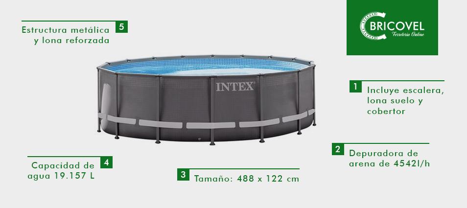 Piscina circular INTEX con marco metálico ULTRA FRAME POOL